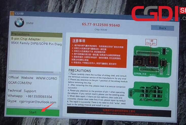 CG100 III to Repair BMW Airbag Module (12)
