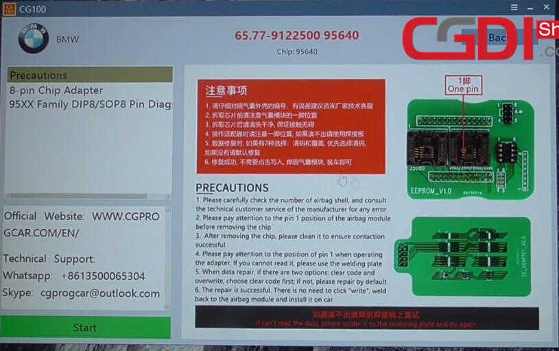 CG100 III to Repair BMW Airbag Module (4)