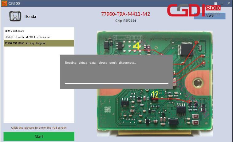 How to Use CG100 Prog to Repair Honda Airbag Module (7)