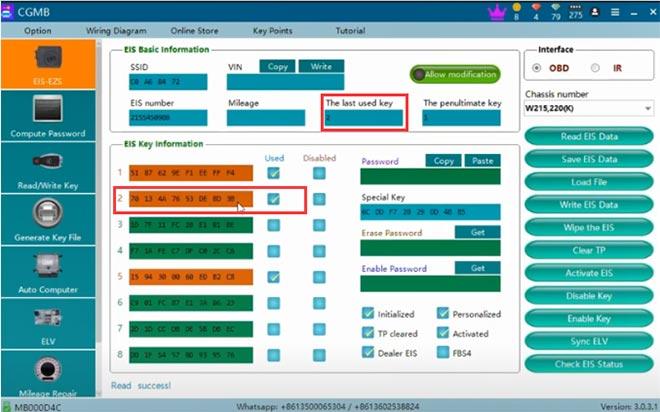 cg pro 9s12 cgdi mb add w220 key 10