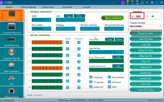 cg pro 9s12 cgdi mb add w220 key 2