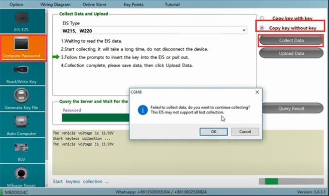cg pro 9s12 cgdi mb add w220 key 3