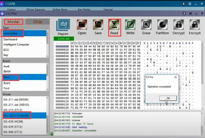 cg pro 9s12 cgdi mb add w220 key 5
