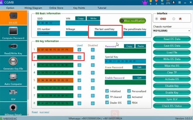 cg pro 9s12 cgdi mb add w220 key 9