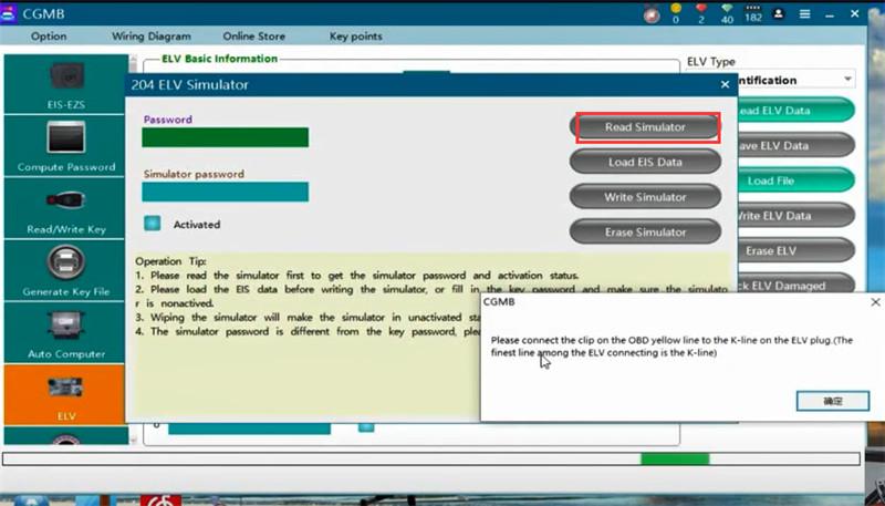 cgdi mb eis elv testing platform replace w204 10