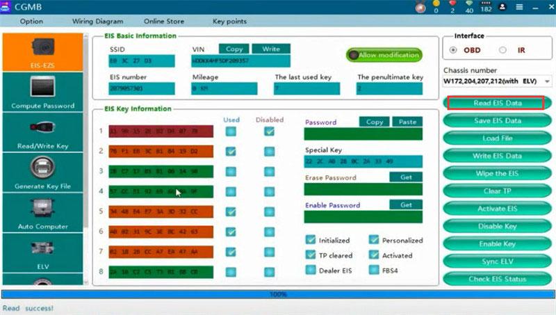 cgdi mb eis elv testing platform replace w204 3