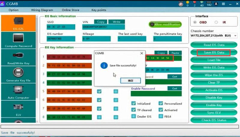 cgdi mb eis elv testing platform replace w204 9