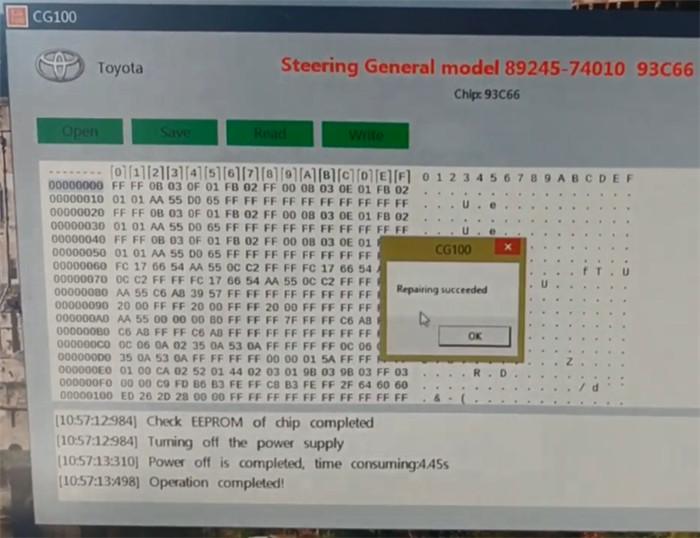 cg100 prog iii repair toyota prius sas 7